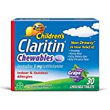 Children's Claritin 24 Hour Non-Drowsy Allergy Grape Chewable Tablet, 5mg, 30Ct