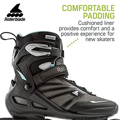 Rollerblade Zetrablade Women's Adult Fitness Inline Skate, Black and Light Blue, Performance Inline Skates : Sports & Outdoors
