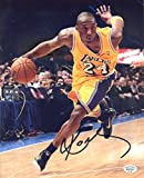 Kobe Bryant Los Angeles Lakers Signed Autographed 8 x 10 Dribbling Photo