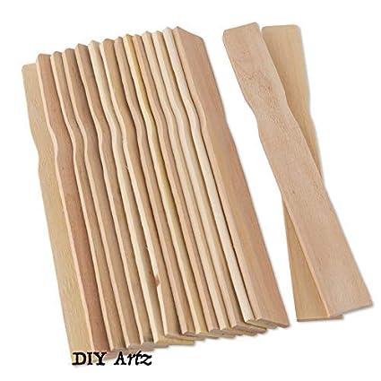 Wooden Paint Stir Sticks 8 Inch 100 Pack Perfect For Mixing Liquids Diy Craft Sticks Home Improvement Natural Smooth Wood