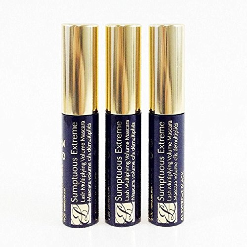 Estee Lauder Sumptuous Extreme Lash Multiplying Volume Mascara #01 Extreme Black 2.8 ml Travel Size (pack of 3, 0.3 oz / 8.4 ml total) ()