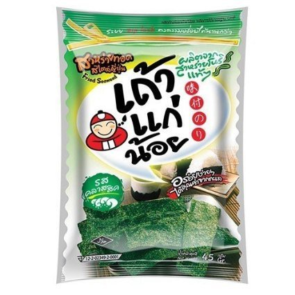 Tao Kae Noi Classic Fried Seaweed Snack 14g (Nori -