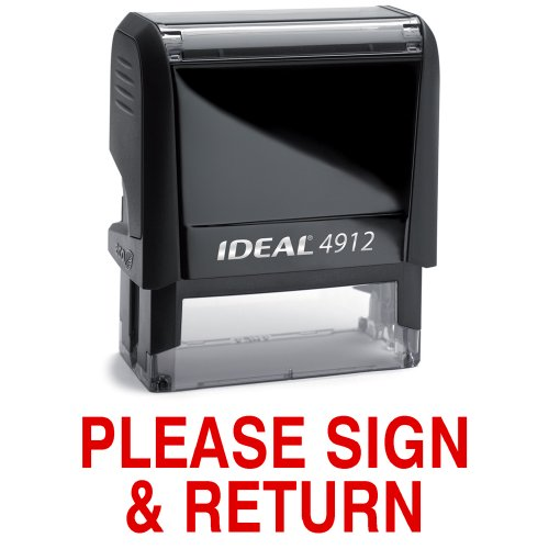 (PLEASE SIGN & RETURN Red Stock Self-Inking Rubber)