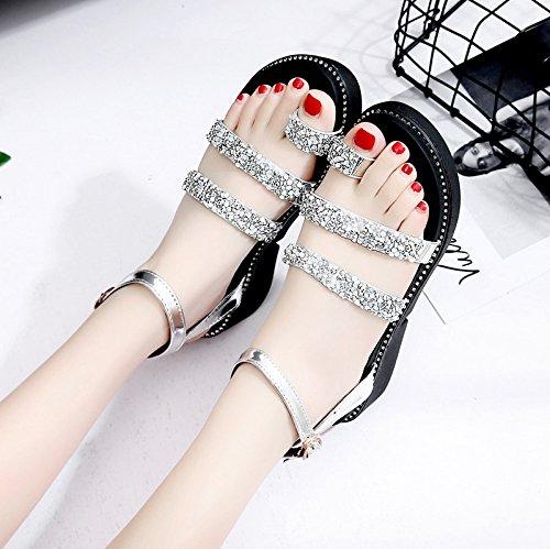 suela RUGAI verano White mujer UE pendiente gruesa Sandalias de zapatos OOwq1At