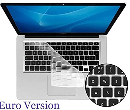 Daorier Keyboard Disposition Silicone Skin Fran/çais Clavier Coque de Protection //Couverture AZERTY pour MacBook Pro 13 15 17 with or without Retina Display et Air 13 EU//ISO Jaune,1 Pcs