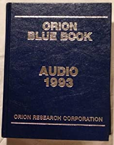 Hardcover Orion Blue Book, 1993 : Audio Book