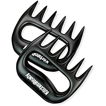 Meat Shredder Claws by KitchenReady. Barbecue Grilling Accessories. Pulled Pork, Beef Brisket, Chicken, Turkey