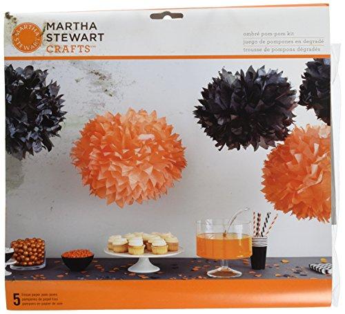 Martha Stewart Crafts Spooky Night Ombre Pom Pom Kit, 48-20415 -