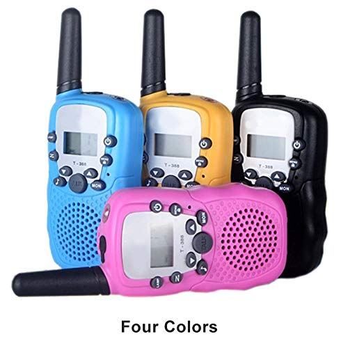 KoozonKid 4 Pack Walkie Talkies for Kids, 22 Channels 2 Way Radio Toy, Colorful Cute Kids Wakie Talkie with LCD Flashlight and Earphone Jack, Outdoor Adventures, Camping, Hiking, 2 Miles Long Range by KoozonKid (Image #6)