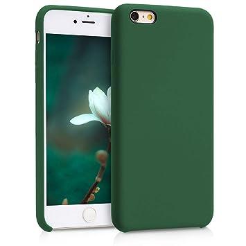 kwmobile Funda para Apple iPhone 6 Plus / 6S Plus - Carcasa de {TPU} para teléfono móvil - Cover {trasero} en {verde oscuro}