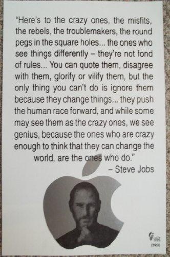 Steve Jobs Famous Quote Commemorative Poster