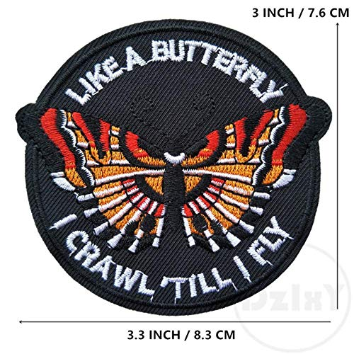 Patches for Clothes - (46 Differents Styles) 1 PCS Round Patches for Clothes Iron on UFO Appliques DIY Skull Stripes Embroidery Stickers Animals Badge (1-pcs-w-67)