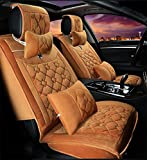 YAOHAOHAO Universal fit full of letter phrase hot milestones of substance seat cover car, the coffee