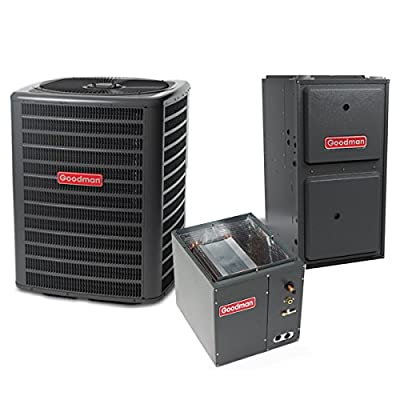 Goodman 2 Ton 14 SEER 40k BTU 96% AFUE 2 Stage Variable Speed Central Air Conditioner & Gas Split System - Upflow