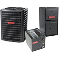 3.5 Ton 14 SEER 100k BTU 96% AFUE 2 Stage Variable Speed Goodman Central Air Conditioner & Gas Split System - Upflow
