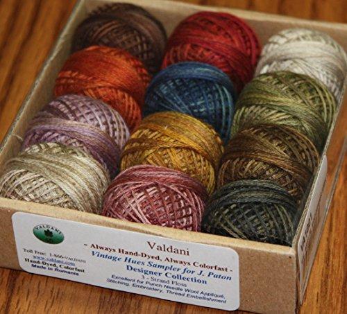 Valdani 3-strand cotton floss - Vintage Hues Sampler - J. Paton