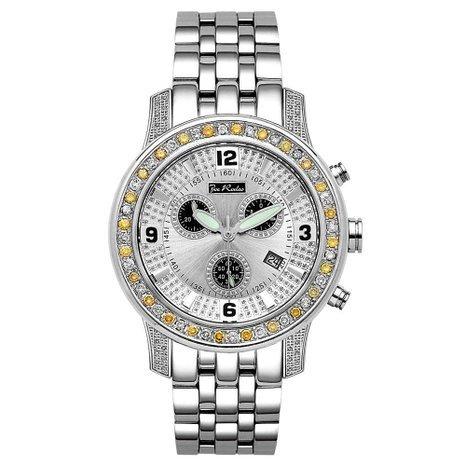Joe Rodeo Diamond Men's Watch - 2000 silver 2 ctw