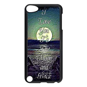 iPod 5 Case,I Love You To the Moon and Back Hard Snap-On Cover Case for iPod Touch 5, 5G (5th Generation)
