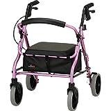 NOVA Medical Products 4218 Zoom 18 Rolling Walker, Pink