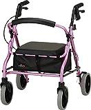 """NOVA Medical Products 18"""" Zoom Rolling Walker, Pink"""