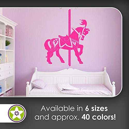 KIWISTAR carousel horse Wall decals in 6 sizes - Wall Sticker Walltattoo vinyl For Home Living Room House Bedroom Bathroom Kitchen Office decor art style
