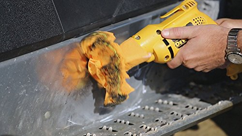 Buff and Polish Any Surface 2 Inch No Exposed Hardware to Prevent Scratches Flitz Buff Ball Car Buffer Drill Attachment with Self-Cooling Design That Never Scorches or Burns Machine Washable
