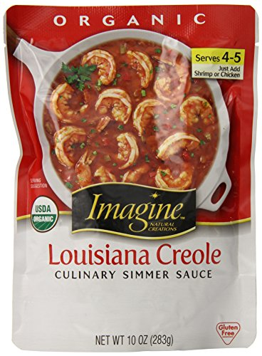 (Imagine Culinary Organic Simmer Sauce, Louisiana Creole, 10 oz. (Pack of 6, Packaging may)