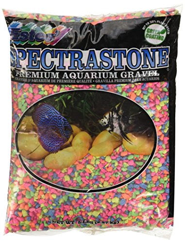 Spectrastone Permaglo Rainbow Aquarium Gravel for Freshwater Aquariums, 5-Pound Bag