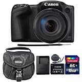 Canon PowerShot SX420 IS 20.0MP Digital Camera (Black) + 16GB Memory Card + Camera Case