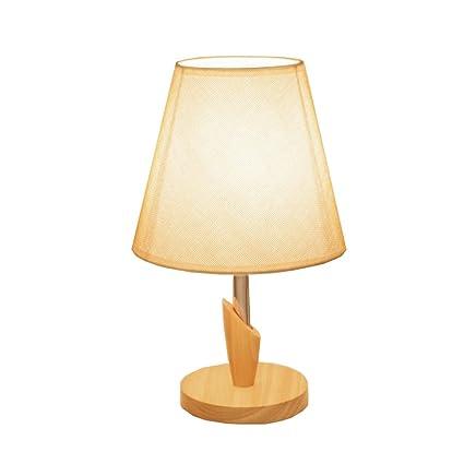 JIAHONG Moderna lámpara de mesa de madera maciza de acero ...