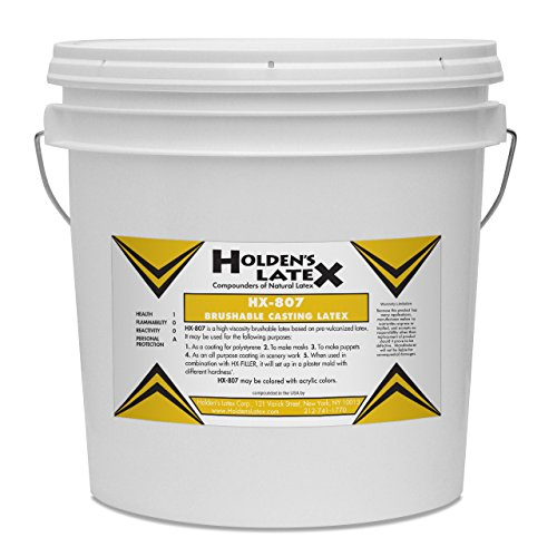 HX-807 Brushable Mask Making & Casting Latex (2 Gallon Bucket) by Holden's Latex (Image #1)
