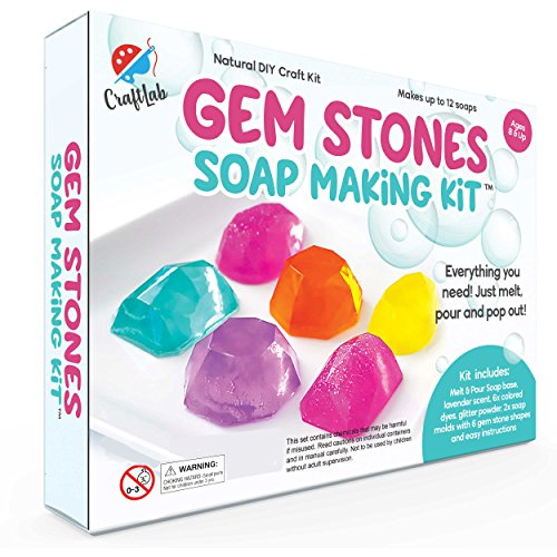 - Gem Stones Soap Making Kit, Great DIY Craft Project, Gift & STEM Science Experiment for Kids Ages 8 and Up