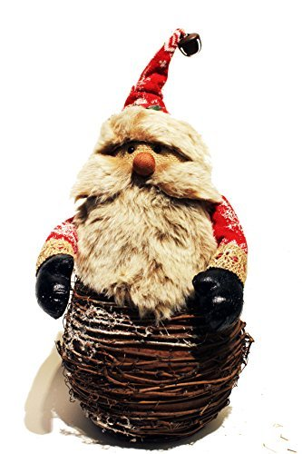 Premium Decor Christmas Country Rustic Vintage Figurine Ornaments, Home Decor, Table Top Decoration, Natural Materials Wood Pine, Reindeer Snowman Santa Claus Rabbit Owl