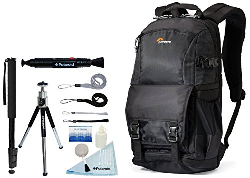 Lowepro Fastpack BP 150 AW II Photo / Laptop / iPad Backpack with Accessory Kit For Canon EOS Rebel T6i, T6, T5, T5i, T3, T3i, T4, T4i, T2i, T1i, EOS 1D MARK III, 1D MARK IV, 1DS MARK II, 5D mark II, 5D MARK III, 7D MARK II, SL1, 5D, 5DS, 5DS R, 7D, 60D, 70D, 6D, 1D X D-SLR Cameras