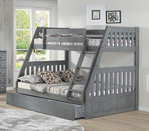 American Furniture Classics 3218-TRUN Twin Over Full bunkbed, Charcoal Grey (American Furniture Classics Bunk Bed Twin Full)