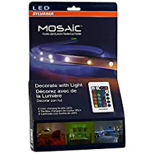 Sylvania LED RGBW Color Changing Strip Lights RGBW Mosaic Flexible Starter Kit with Remote Control, 2-Feet LED Light Strips