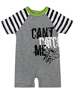 Baby Boys' Organic Short Sleeve Shortall
