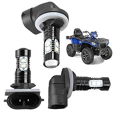 Headlight Bulbs Lamps For Polaris Sportsman ACE 150W 6000K 3600LM Super White Color 3 Pack: Automotive