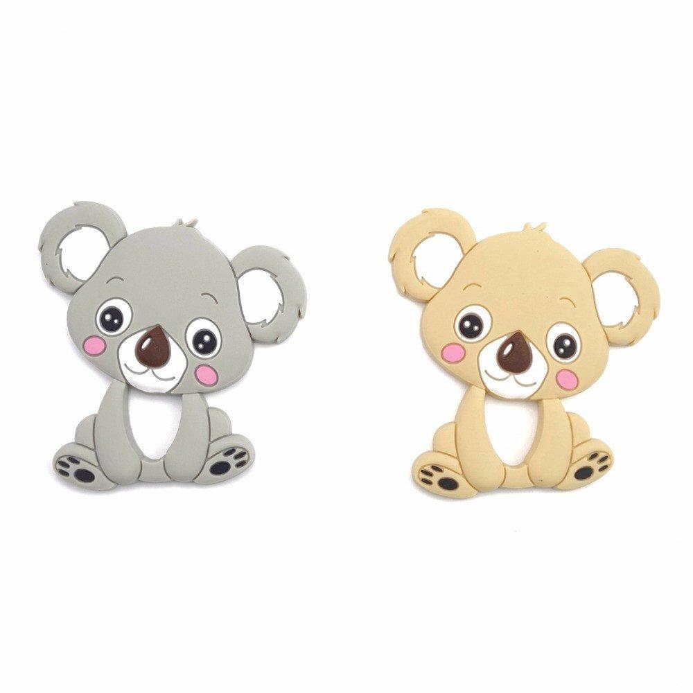 Mamimami Home 5pc DIY Koala Silicona Denticion Collares de Lactancia Pulseras Bebe Chupetero Mordedor Baby Gym Juguetes Montessori