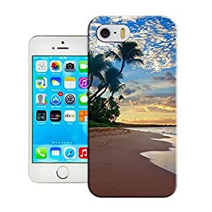LarryToliver iphone 5/5s skin One Piece Soft Rubber Case Cover fits for Customizable Seaside landscape (Laser Technology)