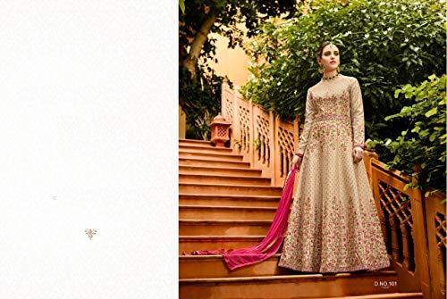 Pakistano Indian Anarkali Abito Miami Donna Dress7205 Indiani Casual Apparel Formale Silk Elegante Etnici YwAWqF6