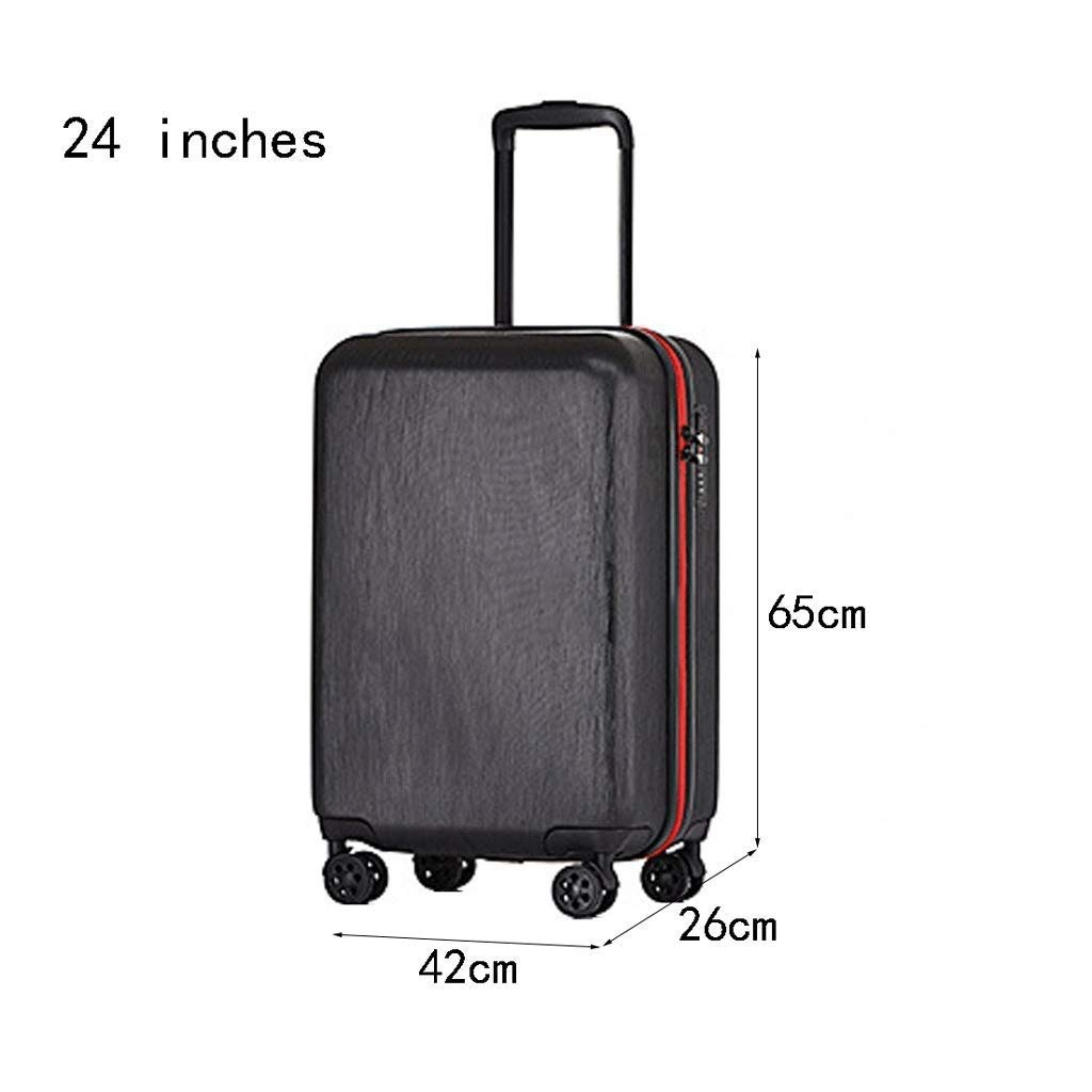 CLOUD Luggage Sets Travel Suitcase Color : White, Size : 24 inches Male and Female Lightweight ABS Air Carrier Trolley Case Lock 4 Wheels