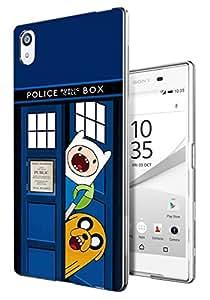 248 - de Doctor who autocuestionamiento esquites diseño divertido Sony Xperia M4 - Sony Xperia M4 Aqua E2303-E2306 cellbell Caso Gel Silicona todos los bordes funda protectora