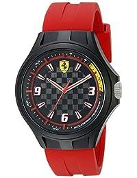 Ferrari Men's 0830285 Pit Crew Analog Display Japanese Quartz Black Watch