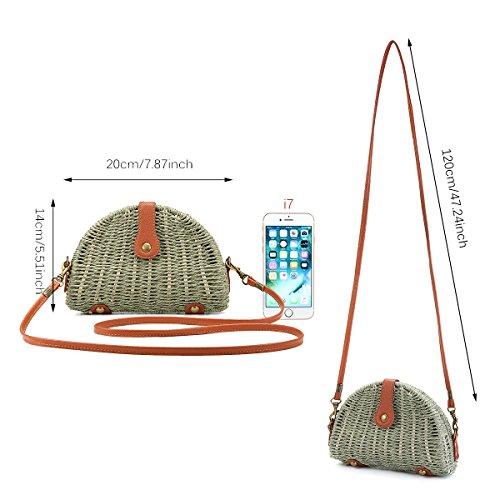 Off Straw A In E Tracolla Women Borsa Per Quotidiano Crossbody White L'uso Spiaggia I Joseko Handbag Viaggi ZBTxq4
