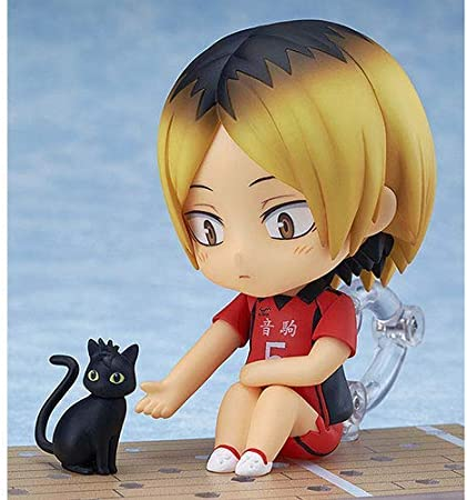 Haikyuu Kozume Kenma Q Version Nendoroid Action Figures Toy with Accessories Movable Anime Figures Statue Toy Cartoon Game Character Model Desktop Decorations Ornaments