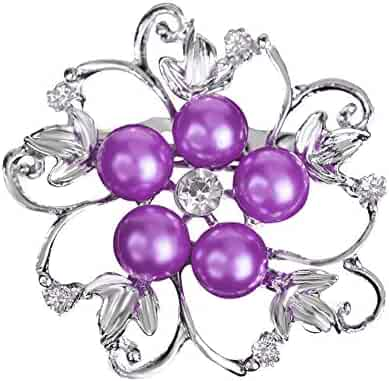 9af5d46ed XYanXXX Fashion Brooch Pins,Faux Pearl Rhinestone Hollow Flower Design  Enamel Badge Lapel Pin Costume