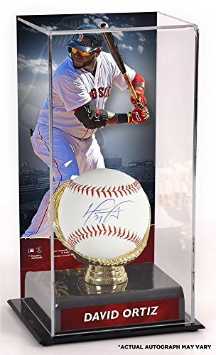 David Ortiz Boston Red Sox Autographed Baseball and Gold Glove Display Case with Image - Fanatics Authentic Certified
