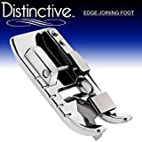 Distinctive Edge Joining / Stitch in the Ditch Sewing Machine Presser Foot - Fits All Low Shank Snap-On Singer, Brother, Babylock, Euro-Pro, Janome, Kenmore, White, Juki, New Home, Simplicity, Elna and More!