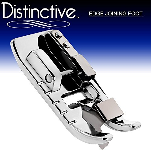 Distinctive Edge Joining / Stitch in the Ditch Sewing Machine Presser Foot - Fits All Low Shank Snap-On Singer, Brother, Babylock, Euro-Pro, Janome, Kenmore, White, Juki, New Home, Simplicity, Elna (Ditch Foot)